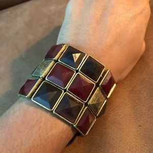 Jewelry - Square rhinestone facet stretch bracelet